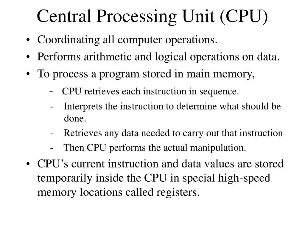 Central Processing Unit (CPU)
