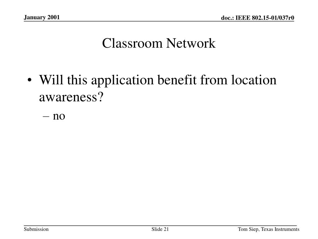 Classroom Network