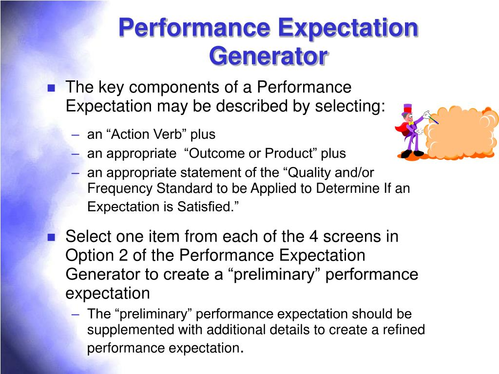 Performance Expectation Generator