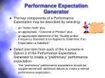 performance expectation generator