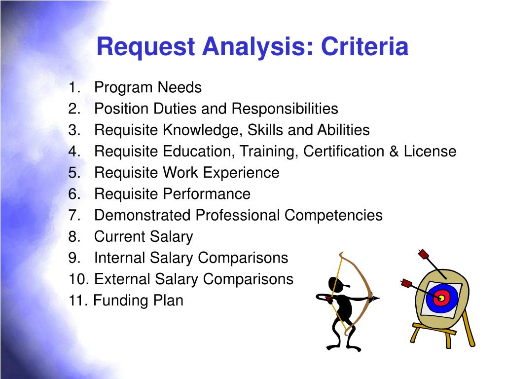 Request Analysis: Criteria