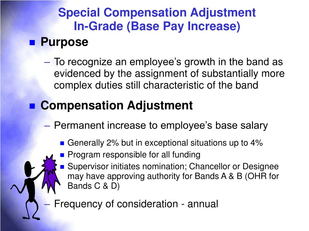 Special Compensation Adjustment