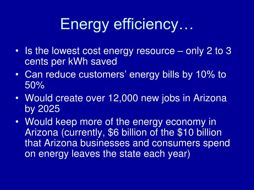 Energy efficiency…