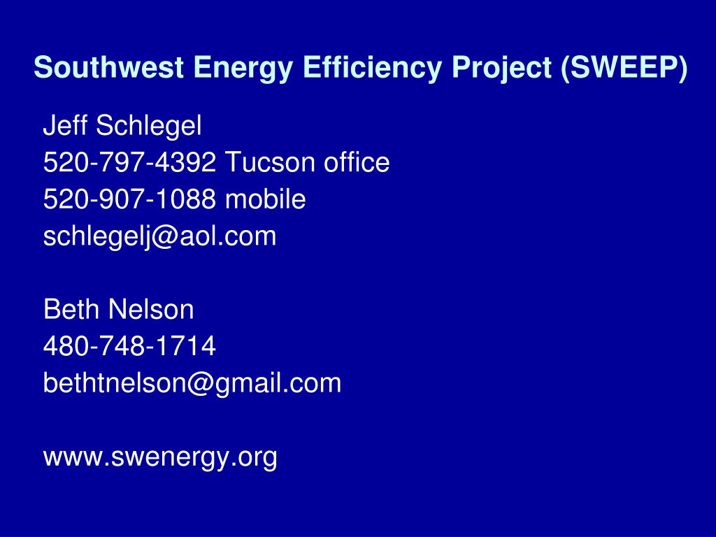 Southwest Energy Efficiency Project (SWEEP)