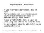 asynchronous connections
