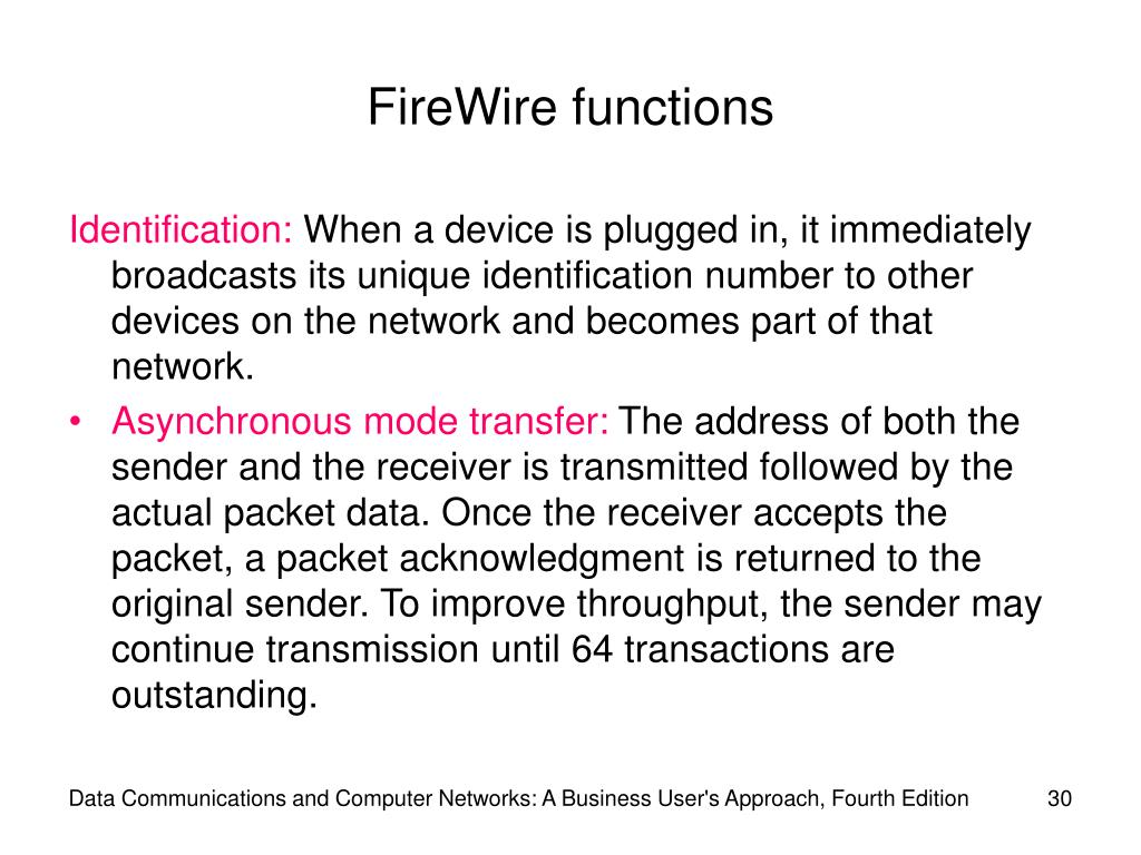 FireWire functions