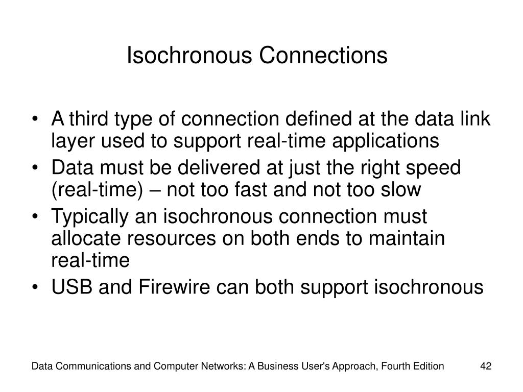 Isochronous Connections