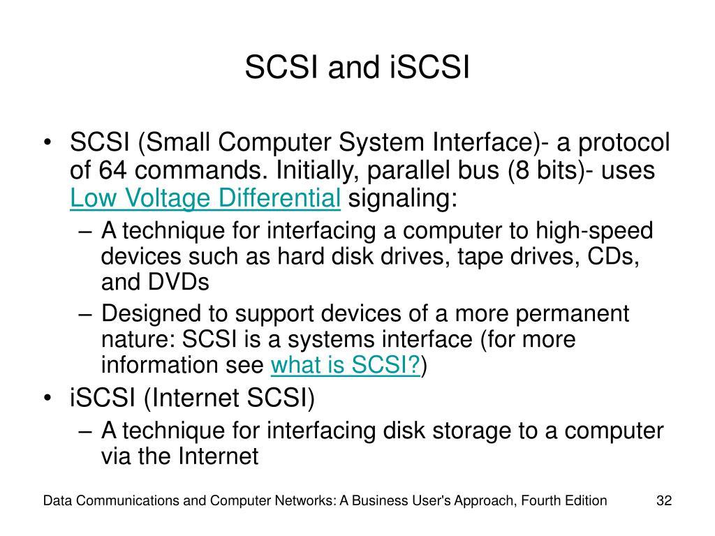 SCSI and iSCSI