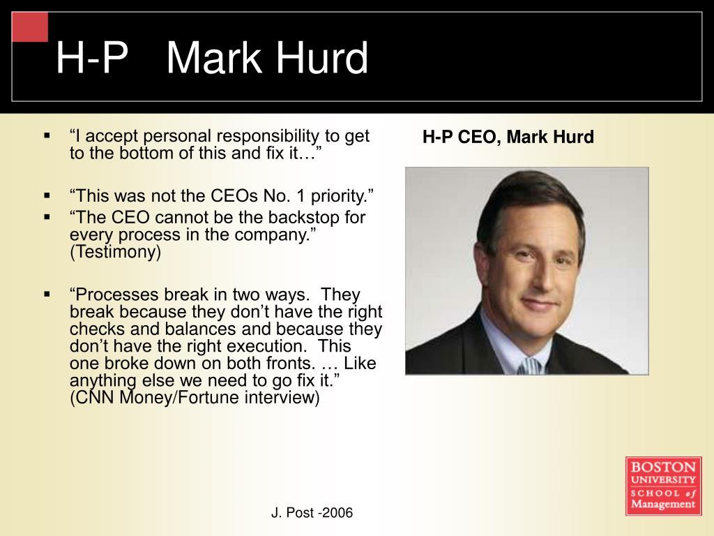 H-P   Mark Hurd