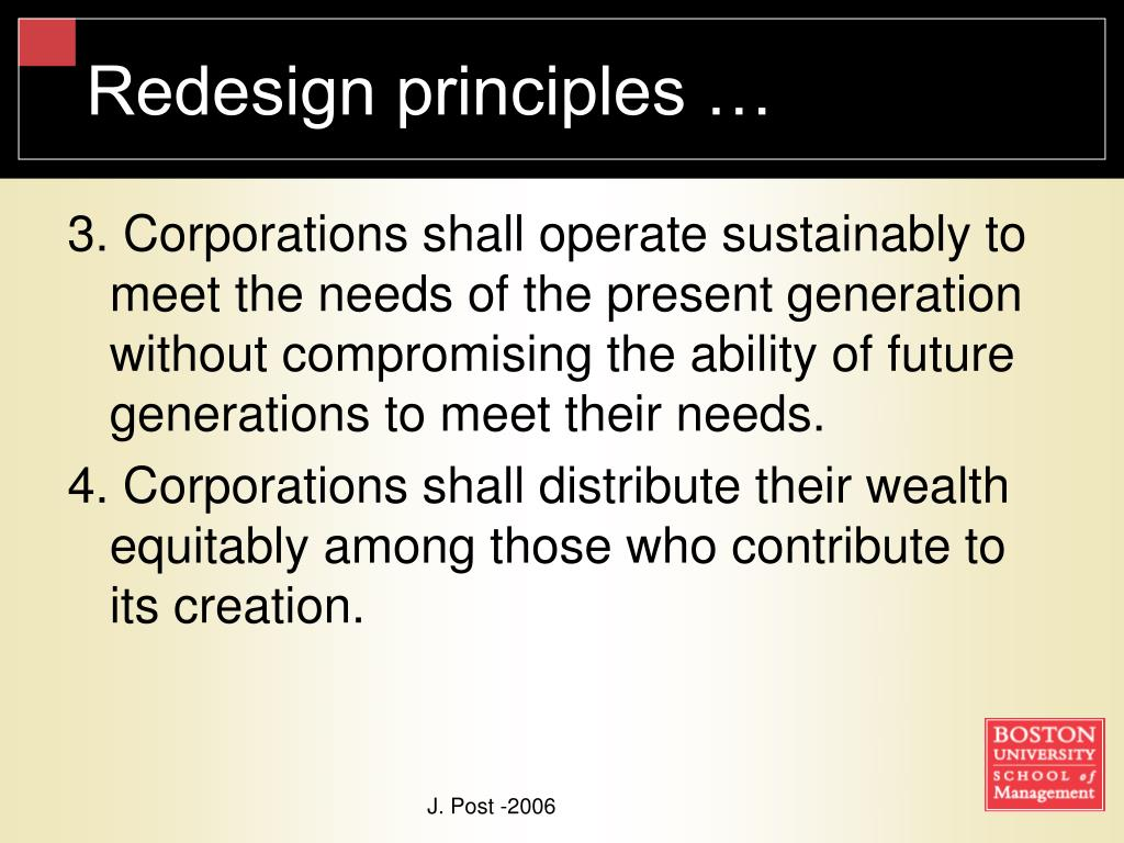 Redesign principles …