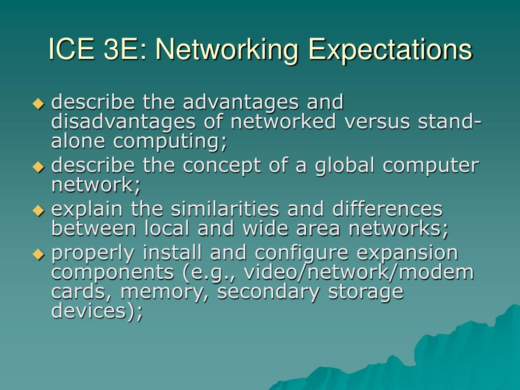 ICE 3E: Networking Expectations