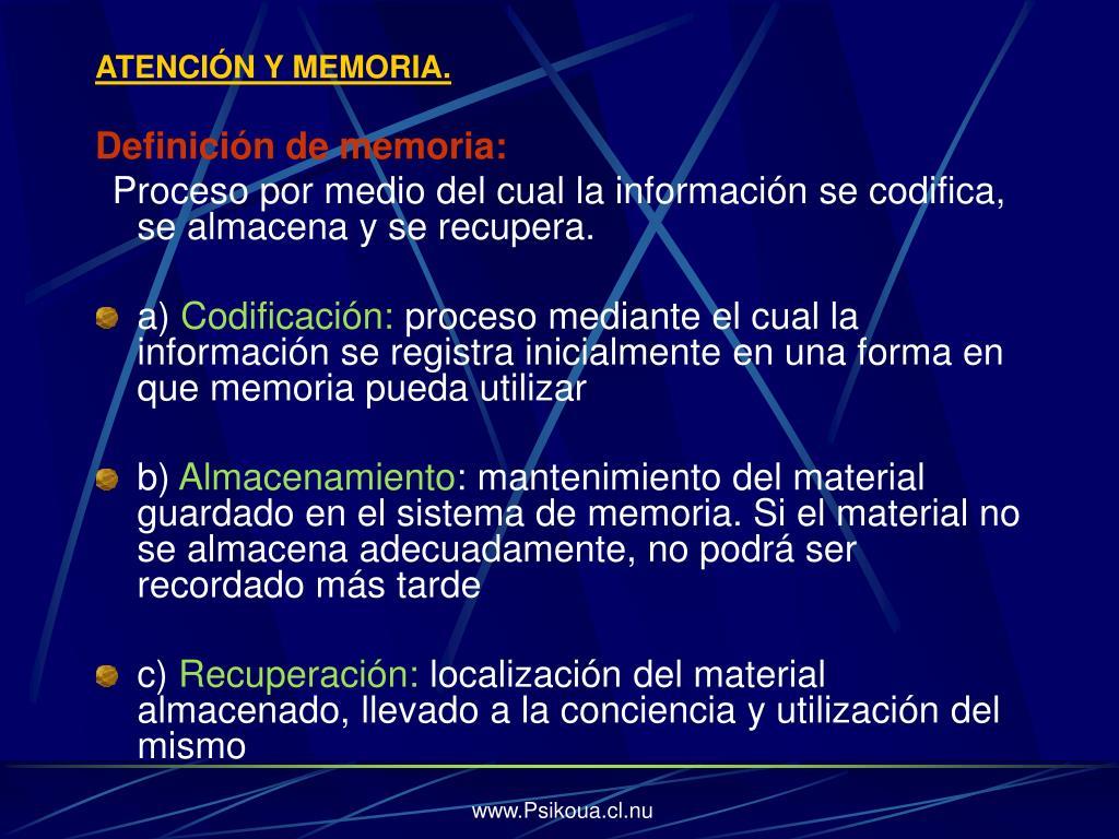 ATENCIÓN Y MEMORIA.