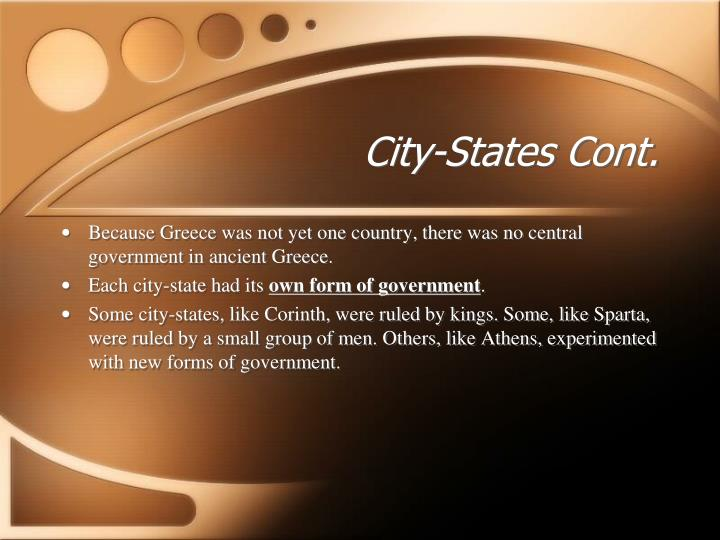 City states cont