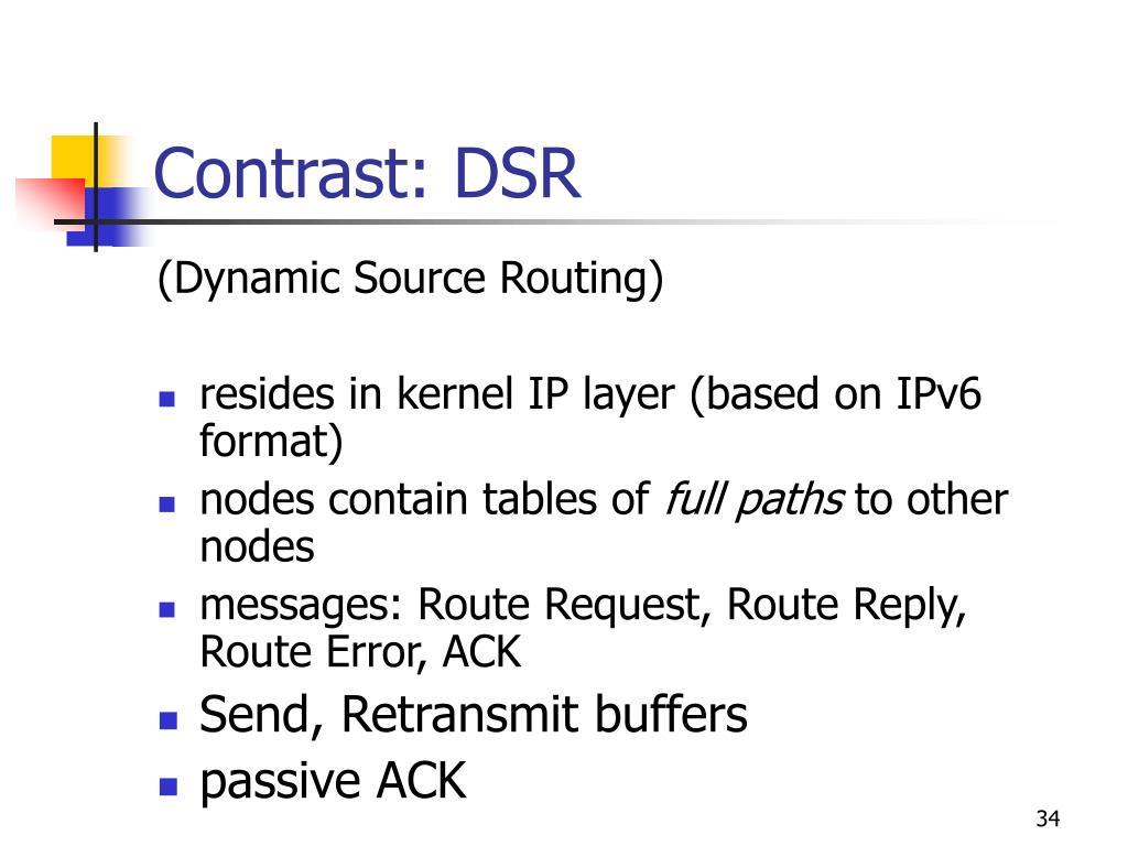 Contrast: DSR