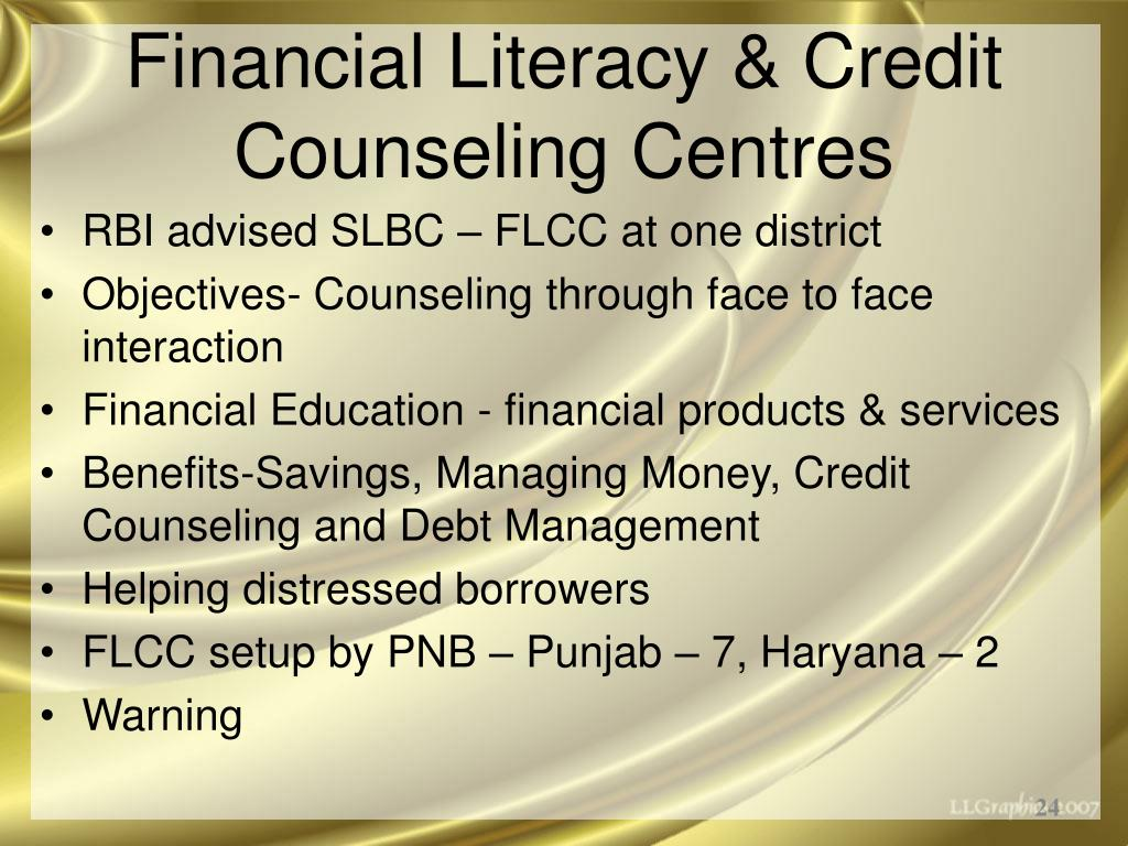 Financial Literacy & Credit Counseling Centres