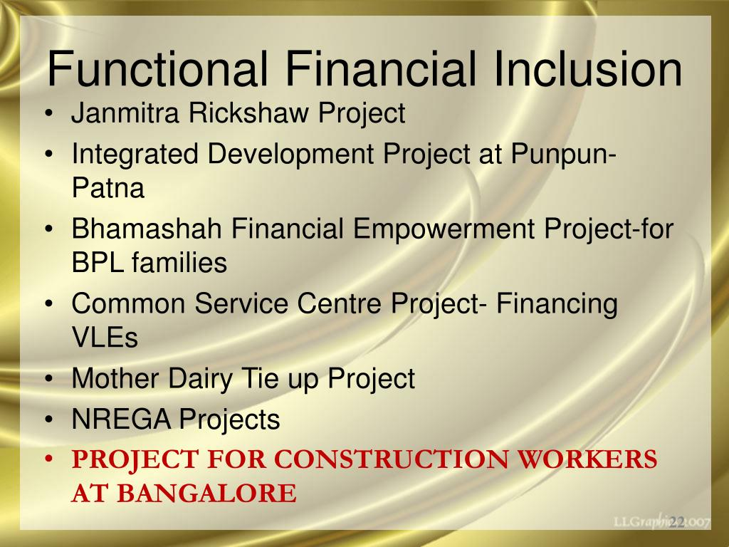 Functional Financial Inclusion