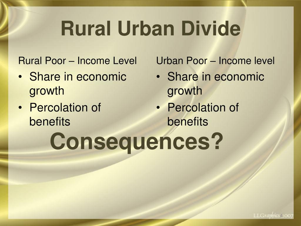 Rural Urban Divide