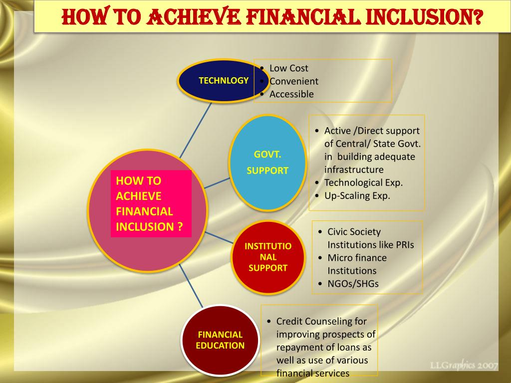 How to achieve financial inclusion?