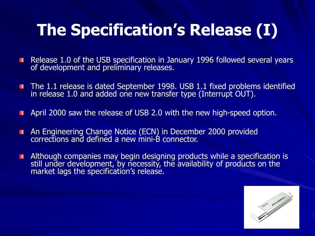 The Specification's Release (I)