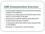 usb communication overview