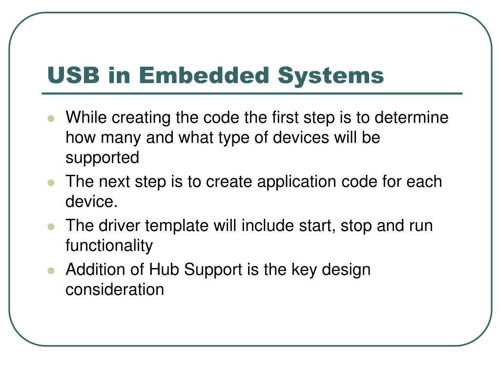 USB in Embedded Systems