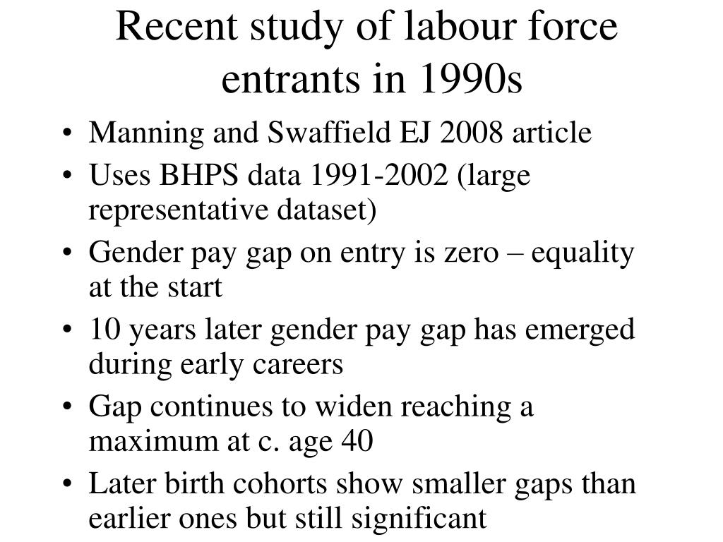 Recent study of labour force