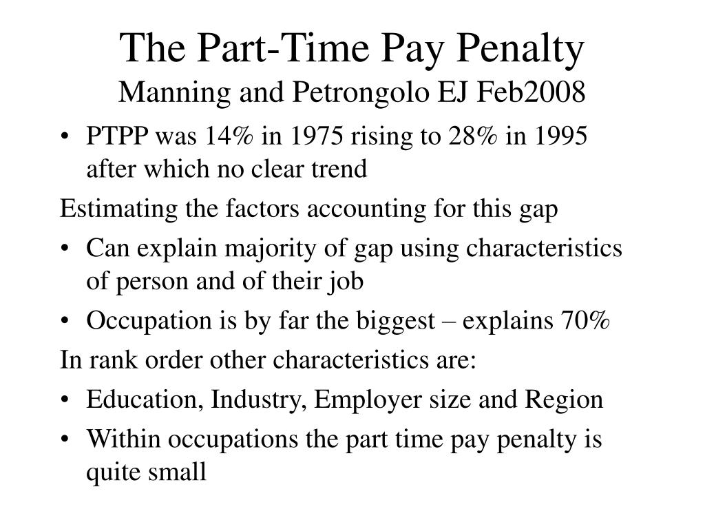 The Part-Time Pay Penalty