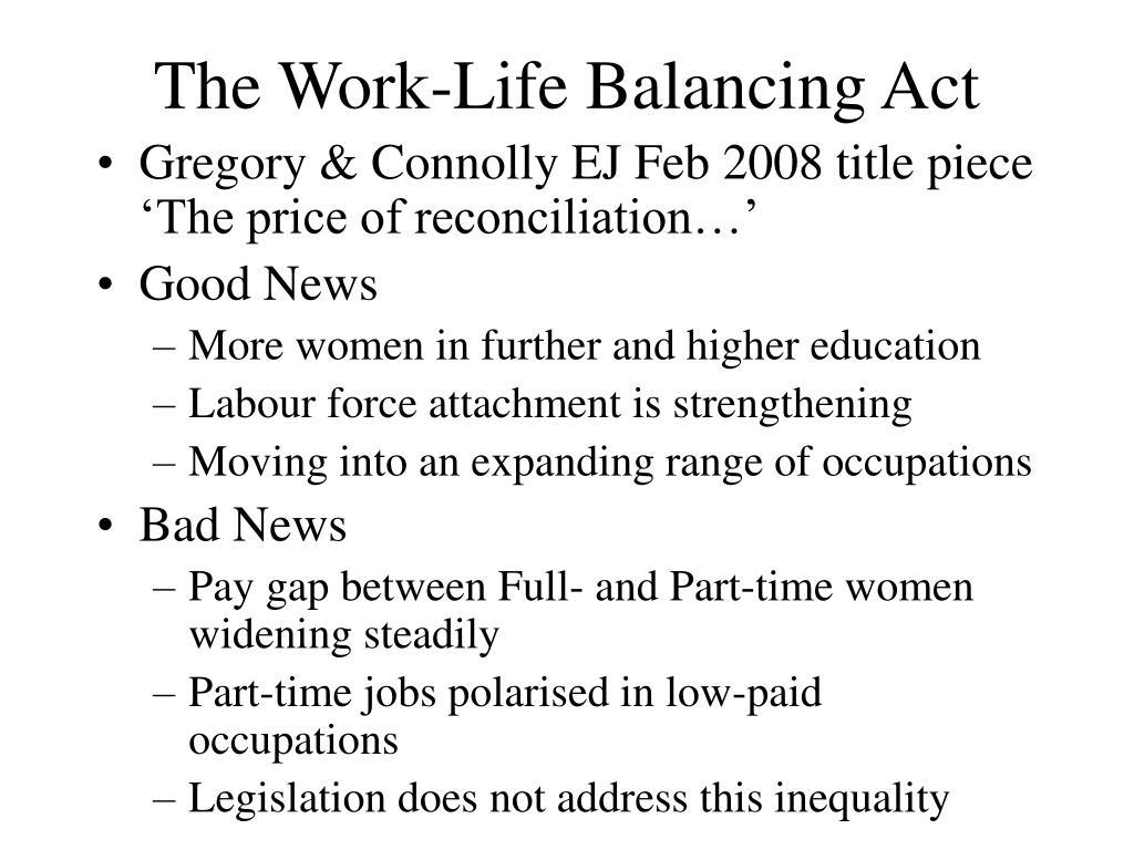 The Work-Life Balancing Act