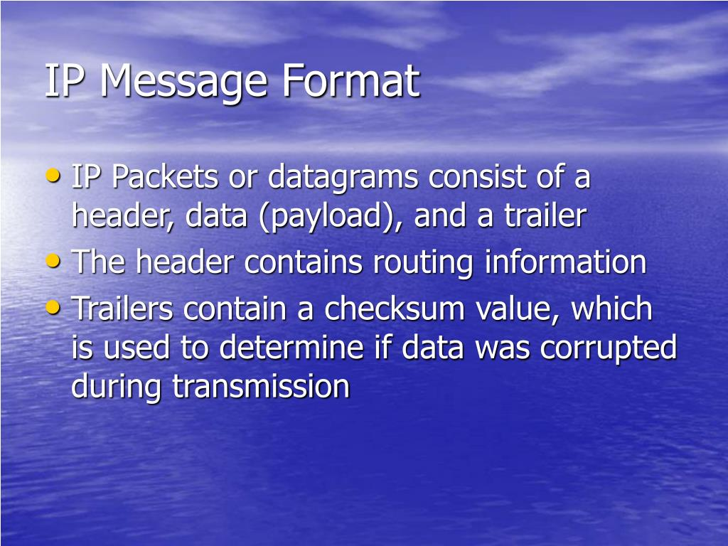 IP Message Format