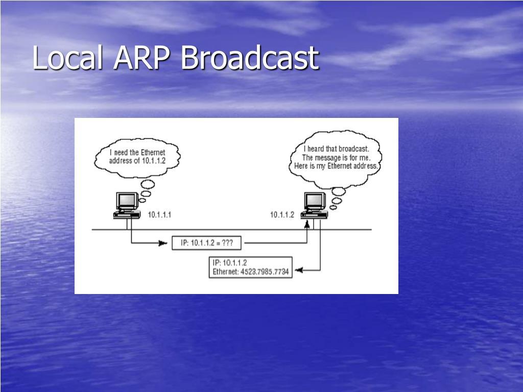 Local ARP Broadcast