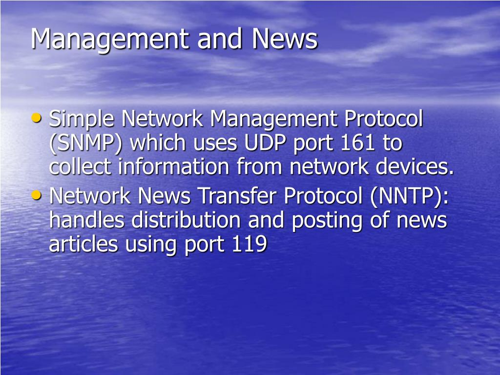 Management and News