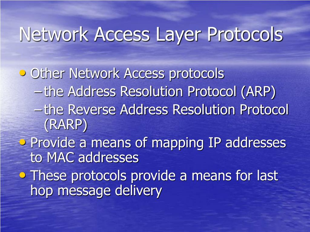 Network Access Layer Protocols