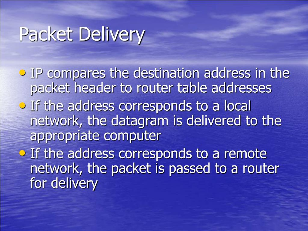 Packet Delivery