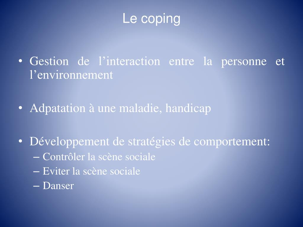 Le coping