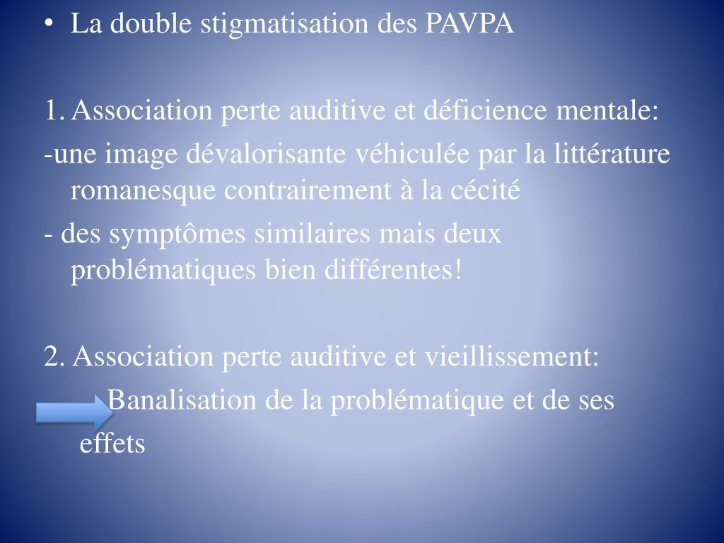 La double stigmatisation des PAVPA