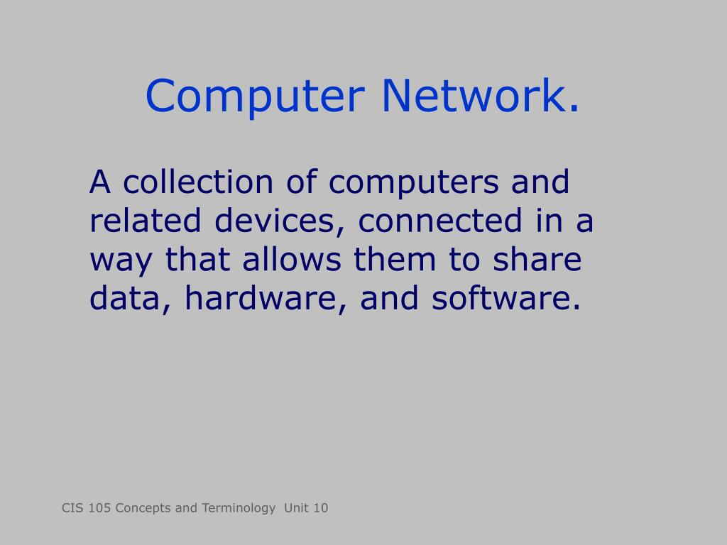 Computer Network.