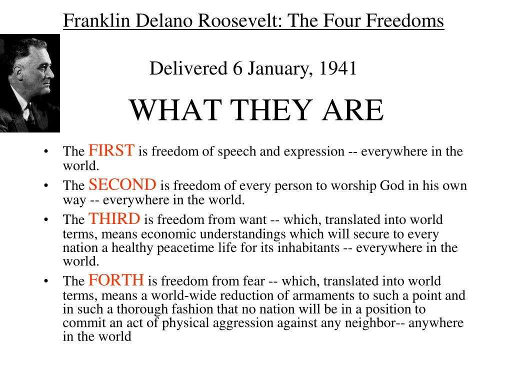 Franklin Delano Roosevelt: The Four Freedoms