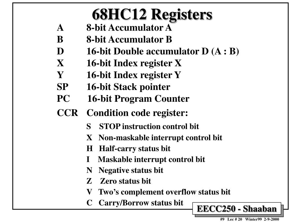 68HC12 Registers