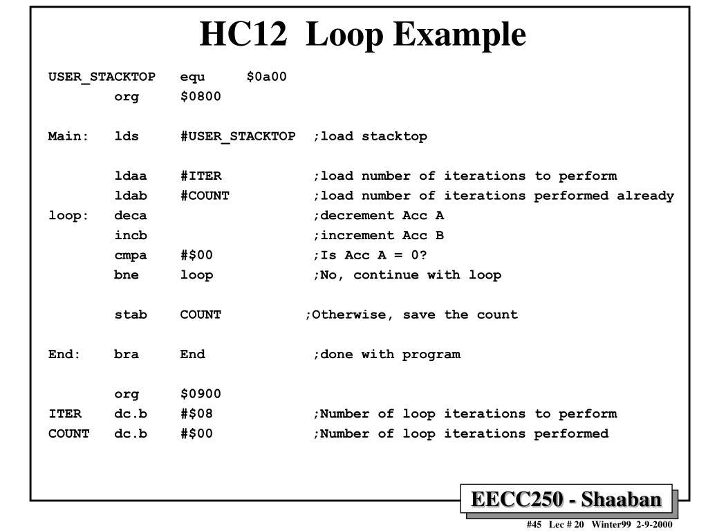 HC12  Loop Example