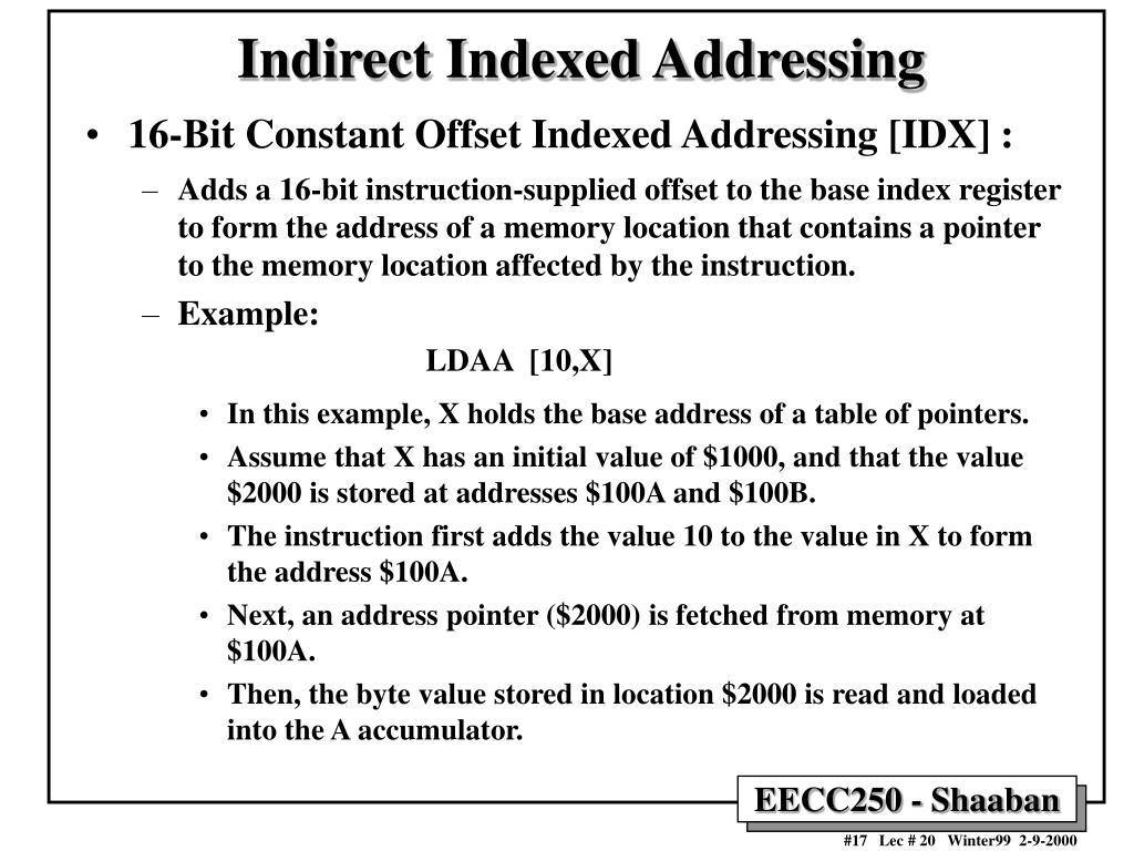 Indirect Indexed Addressing