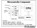 microcontroller components