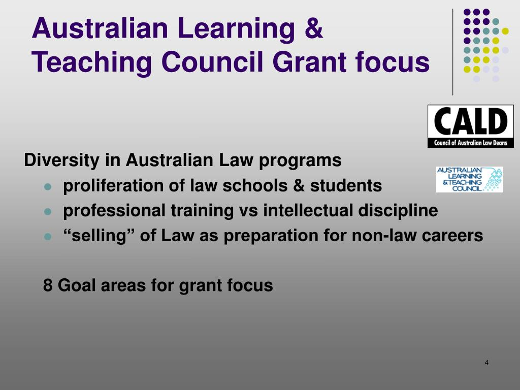 Australian Learning & Teaching Council Grant focus