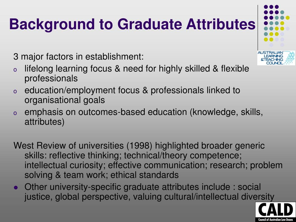 Background to Graduate Attributes