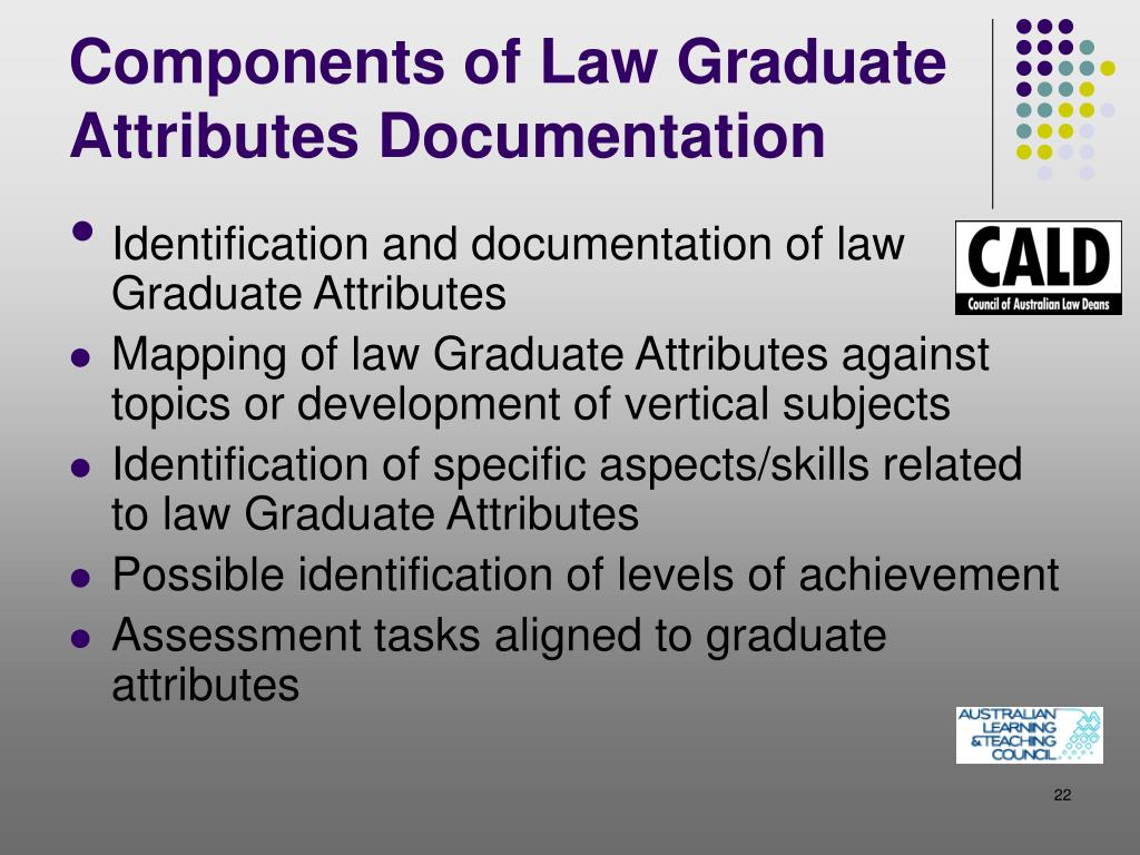 Components of Law Graduate Attributes Documentation