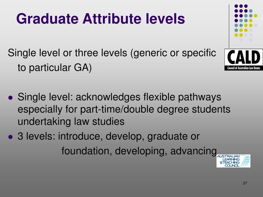 Graduate Attribute levels