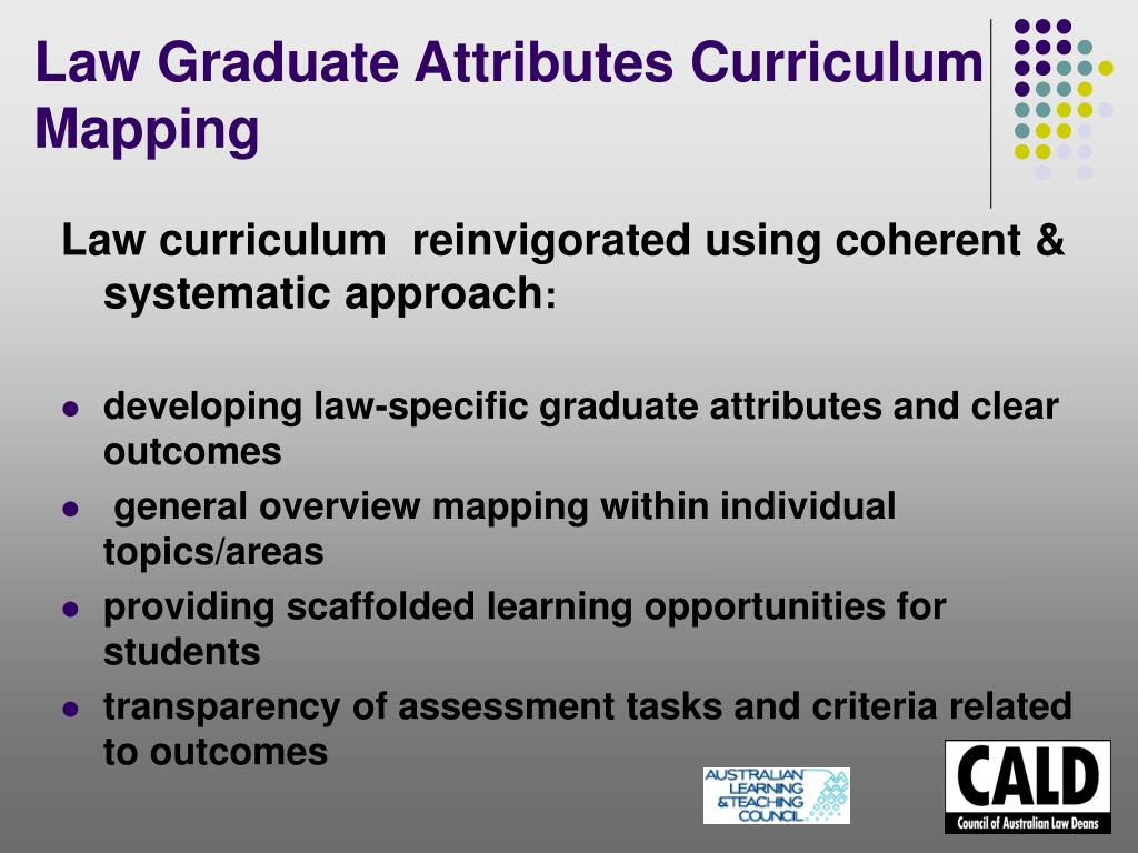 Law curriculum  reinvigorated using coherent & systematic approach