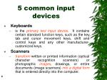 5 common input devices