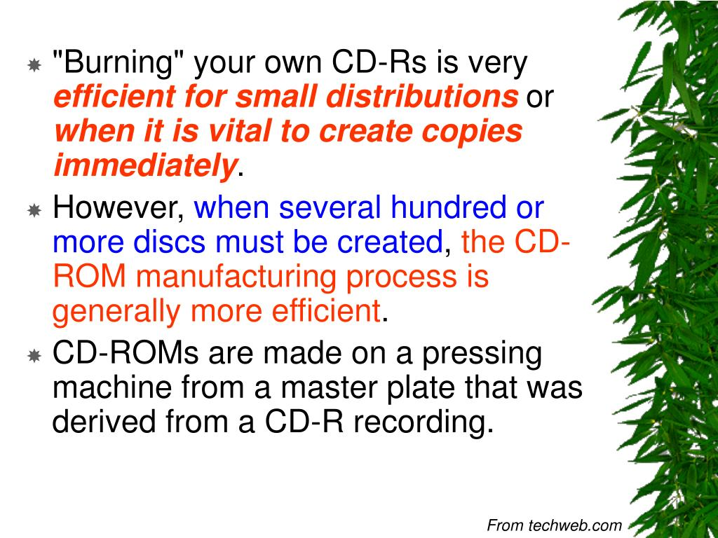 """Burning"" your own CD-Rs is very"