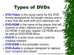 types of dvds