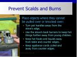 prevent scalds and burns26